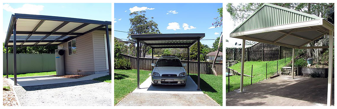 Carport Awnings Product : Colorbond steel carports